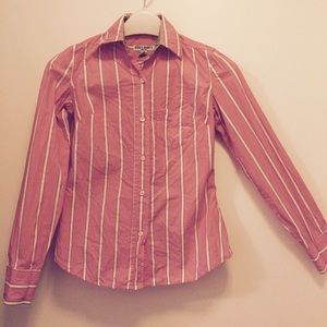 Steve & Barry's Shirt in Pink/White Stripes XS